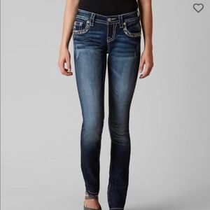 Miss Me JE5489T3R Straight Jeans Size 25